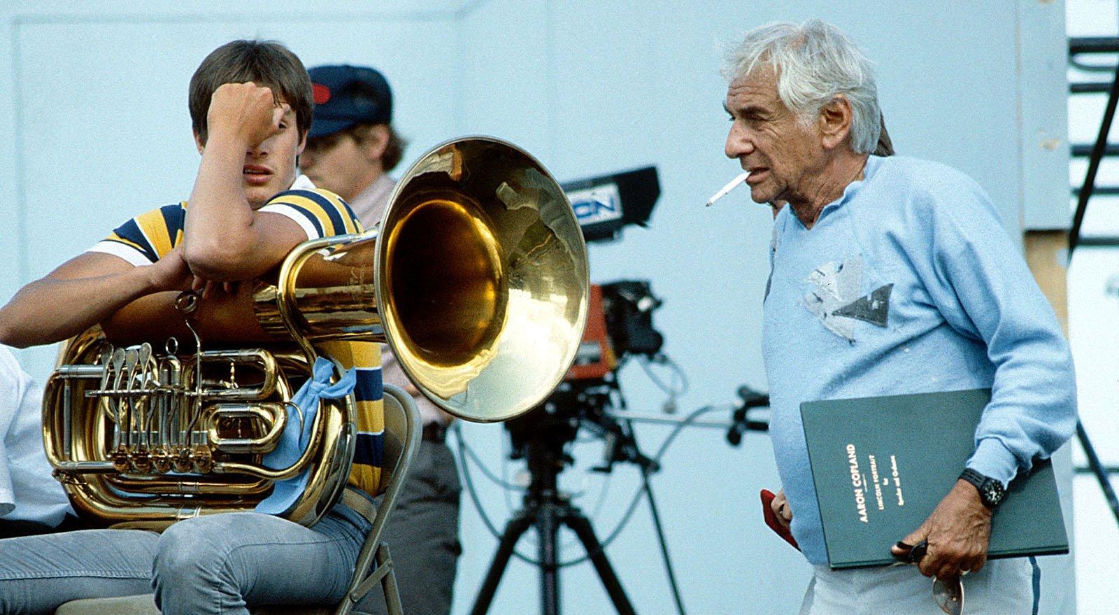 Leonard Bernstein en un assaig a Nova York. © Pamela Price. Zumapress.