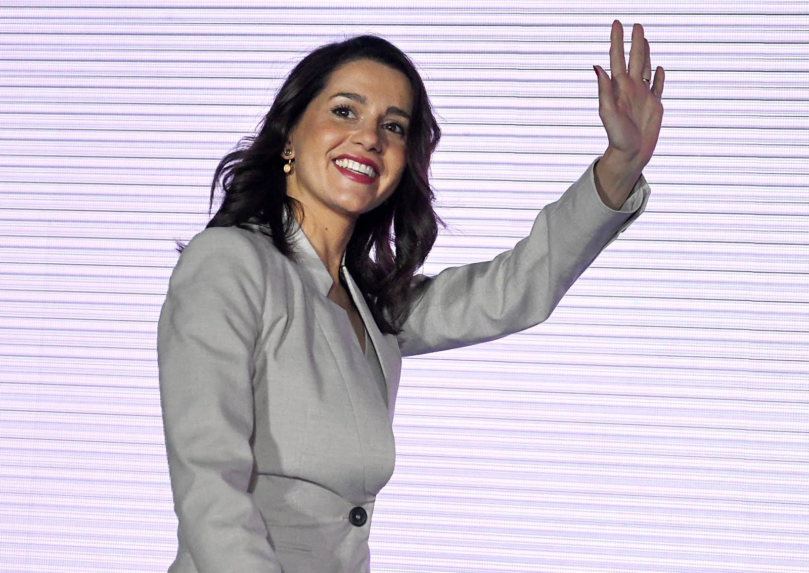 Inés Arrimadas en un míting de les passades eleccions municipals. Fotografia de Xavier Jubierre.