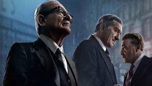 Joe Pesci, Robert De Niro i Al Pacino a El irlandés
