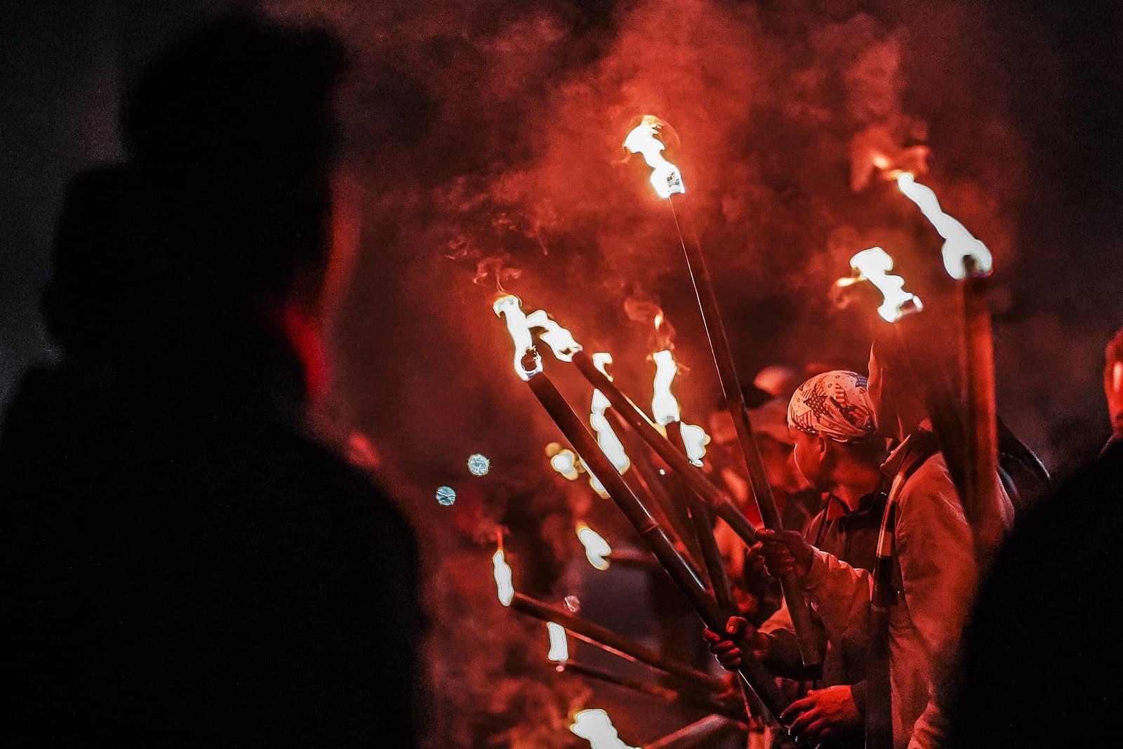 Manifestants contra el govern de L'Índia el 19 de desembre a Jorhat. Fotografia de A Luit Chaliha/Zuma Wire.