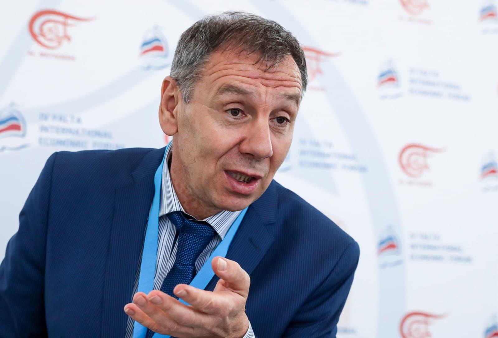 L'exdiputat rus Serguéi Markov l'abril del 2018. Fotografia de Vyacheslav Prokofyev. TASS. Getty Images
