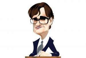 Retrat del nou ministre Salvador Illa. Caricatura de Luis Grañena
