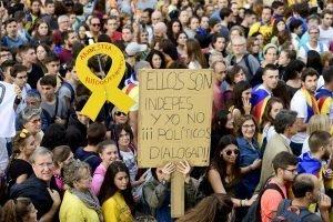 Imatge de la vaga general convocada pels independentistes el 18 d'octubre. Foto Xavier Jubierre