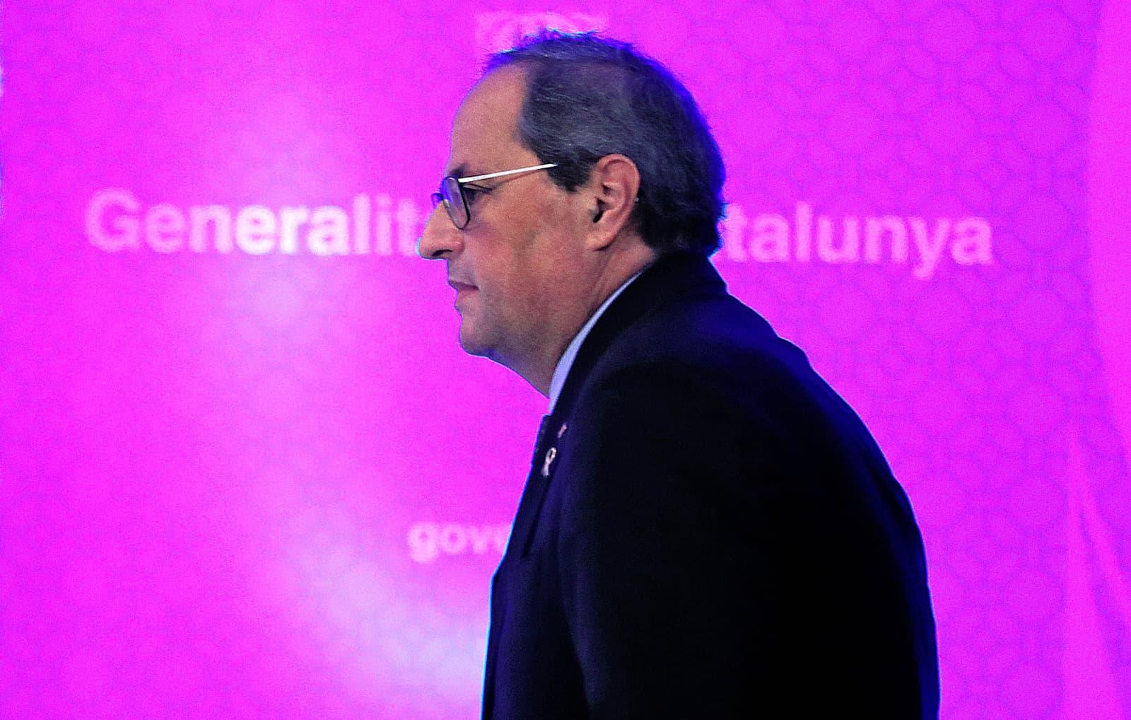 Quim Torra, al març, en una conferència de premsa sobre el coronavirus Fotografia de Joan Valls Nur Zuma Press