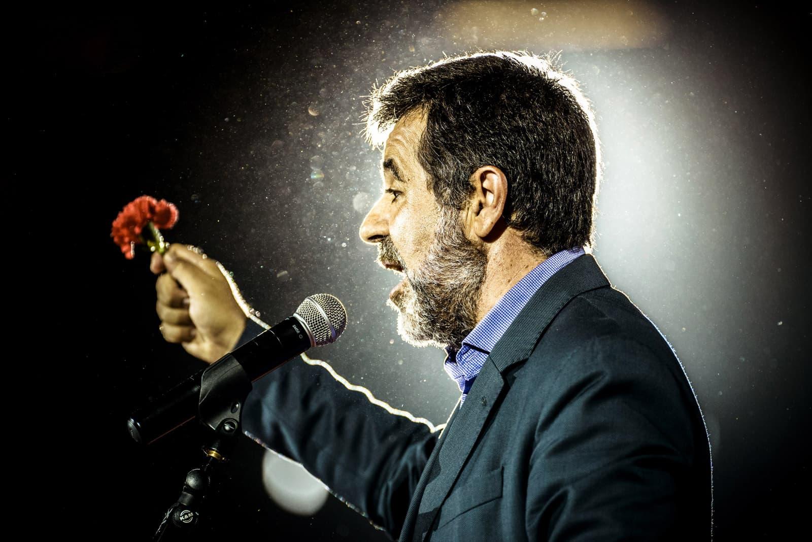 Jordi Sànchez en un acte de campanya de setembre del 2017. Fotografia de Matthias Oesterle. Zuma Wire.