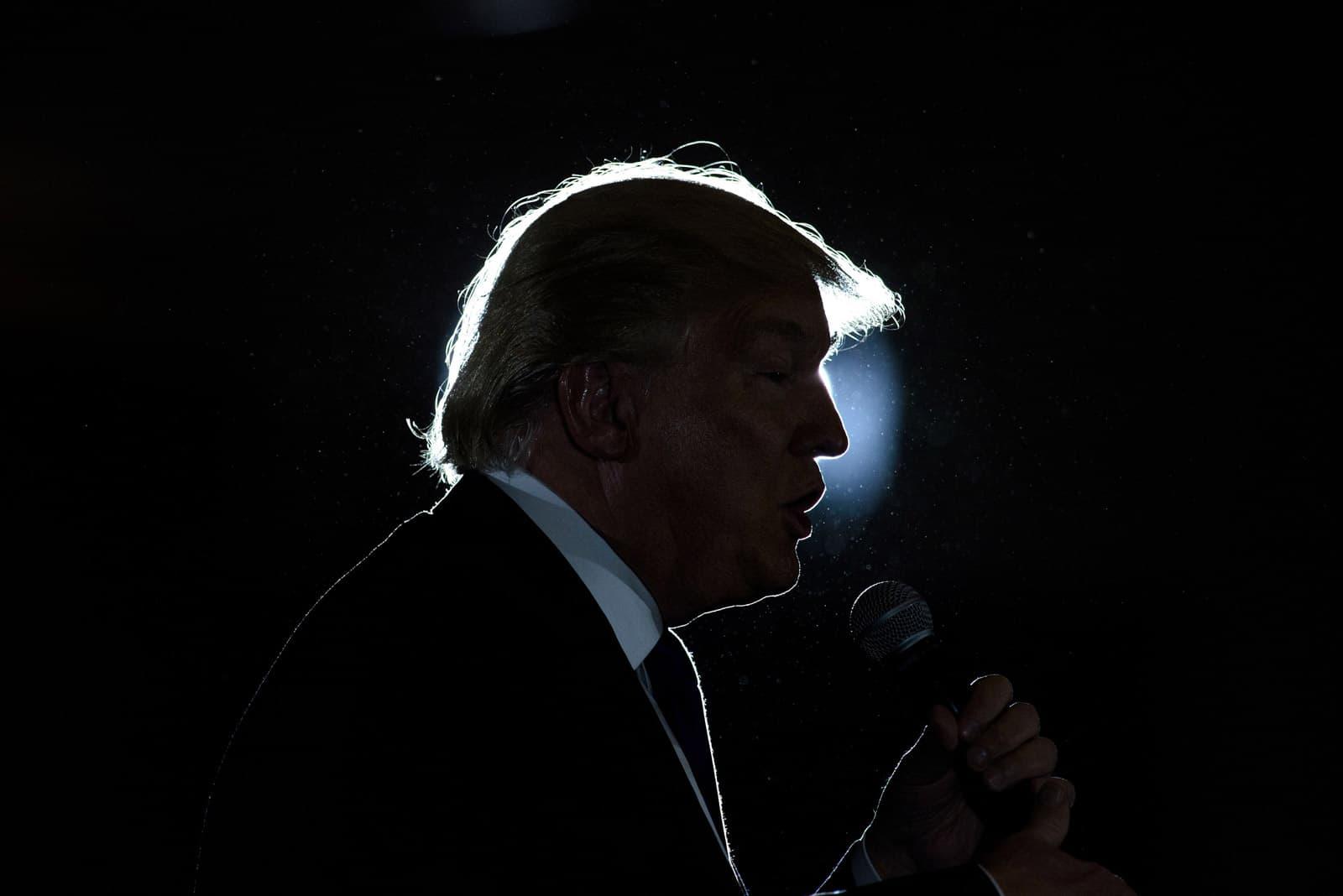 Donald Trump en un miting de les presidencials, a Ohio, el 2016. Fotografia de Brendan Smialowski. AFP
