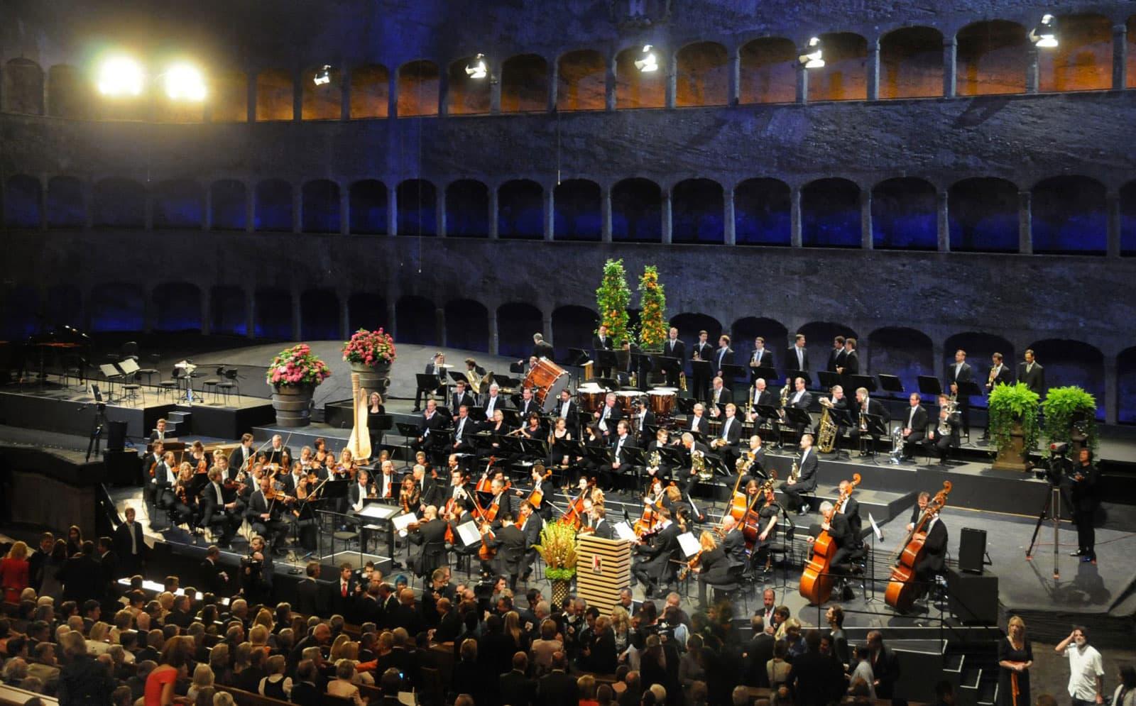 Imatge sense datar d'un concert al Festival de Salzburg. Fotografia de l'oficina de turisme de Salzburg.