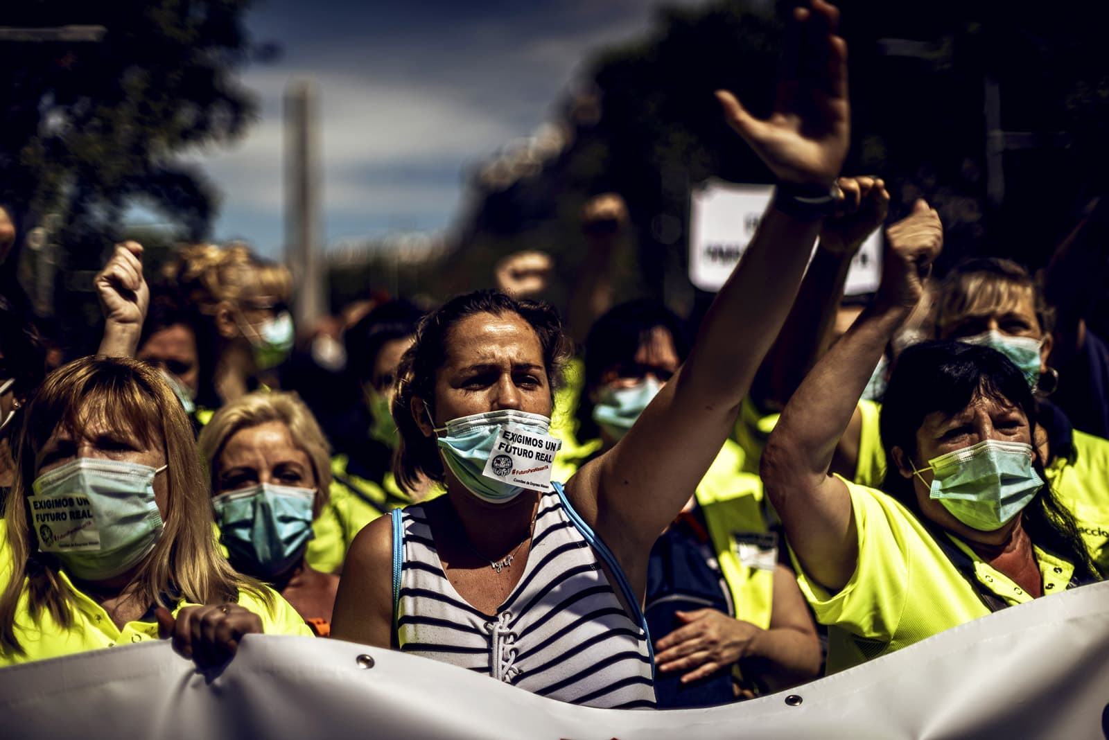 Treballadors de Nissan es manifesten a Barcelona, el 18 de juny, contra el tancament de la planta. Fotografia de Matthias Oesterle. Zuma Wire