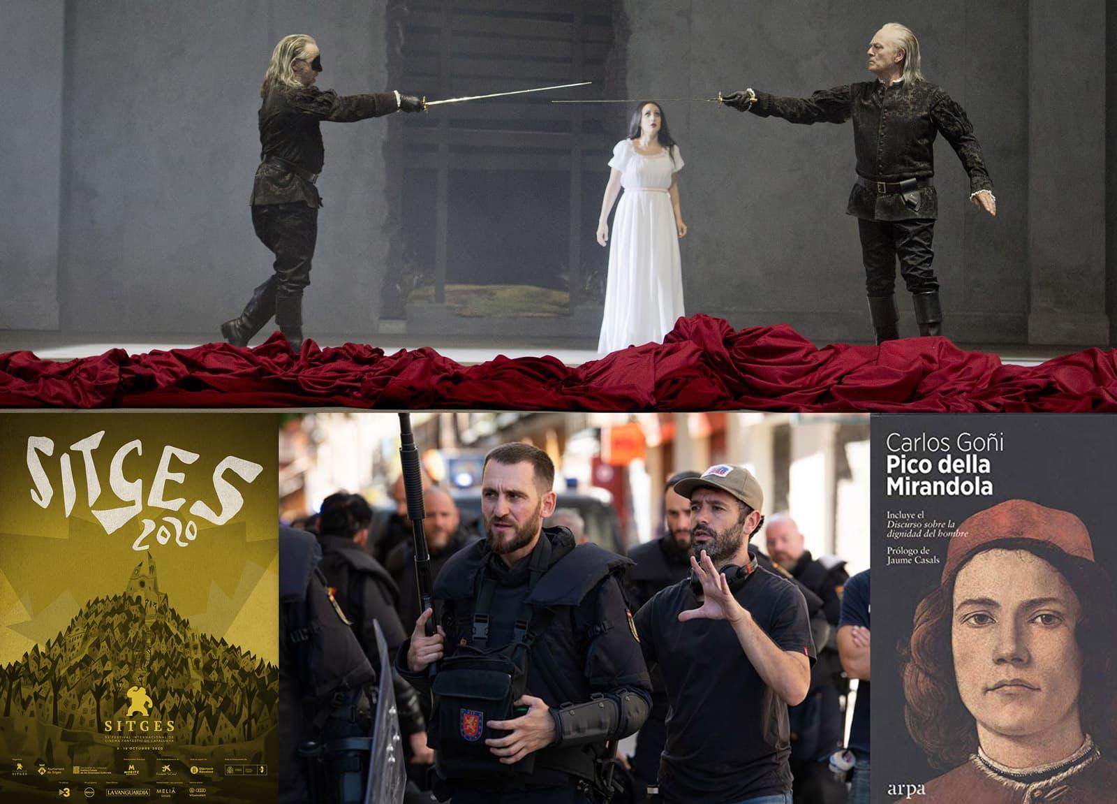 Ópera Don Giovanni al Liceu, cartell del Festival Internacional de Cinema Fantàstic de Sitges, serie Antidisturbios i llibre Pico della Mirandola de Carlos Goñi
